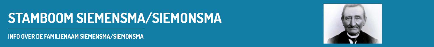 Stamboom Siemensma-Siemonsma